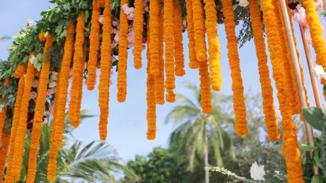 indian traditional ceremony venue decoration. - married stock videos & royalty-free footage