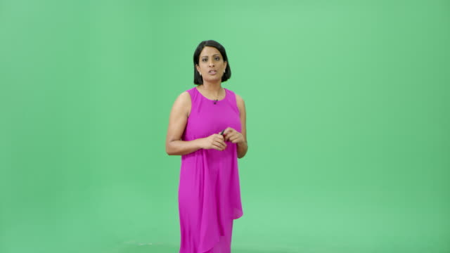 Indian woman presenting weather forecast