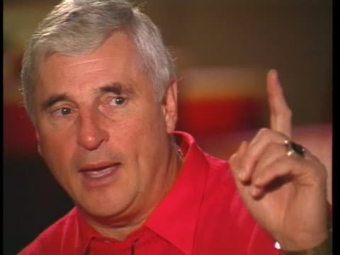 stockvideo's en b-roll-footage met indiana basketball coach bobby knight explains his controversial approach to basketball and coaching. - sport