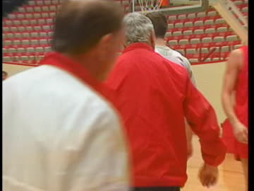 indiana basketball coach bobby knight instructs his players during a practice. - sport stock videos & royalty-free footage