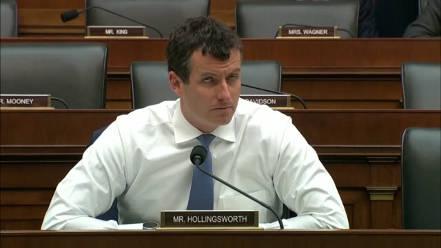 indiana congressman trey hollingsworth asks treasury secretary steve mnuchin at a house financial services committee hearing about data dissemination... - compound interest stock videos and b-roll footage