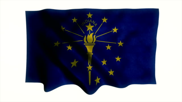 indiana flag waving animation - country geographic area stock videos and b-roll footage