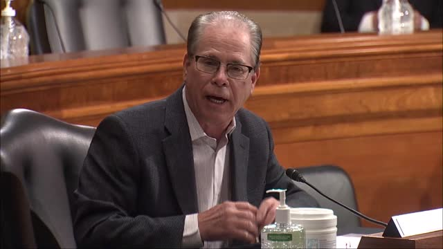 indiana senator mike braun discusses with health and human services secretary nominee xavier becerra at the senate health, education, labor and... - red tape stock videos & royalty-free footage