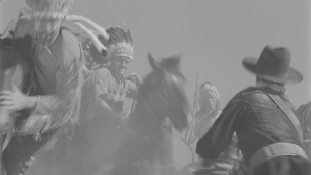 ms indians attacking on cavalry - american culture stock videos & royalty-free footage