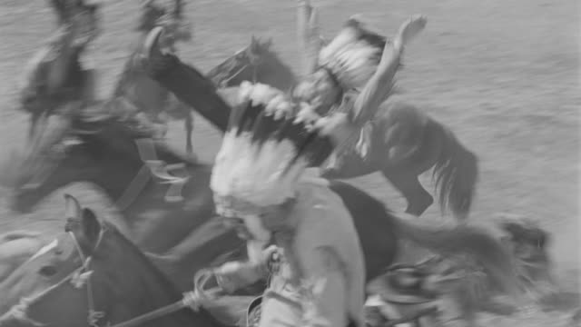 ms pan indians attacking on cavalry - indigenous north american culture stock videos and b-roll footage