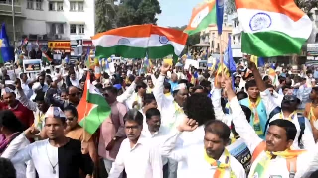 indians take to the streets again in yet more protests against a citizenship law - citizenship stock videos & royalty-free footage