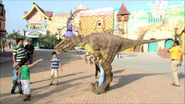 indias most elaborate theme park opened with special effect hindu gods and bollywood themed rides aiming to tap a thirst for family entertainment... - special effect stock videos & royalty-free footage