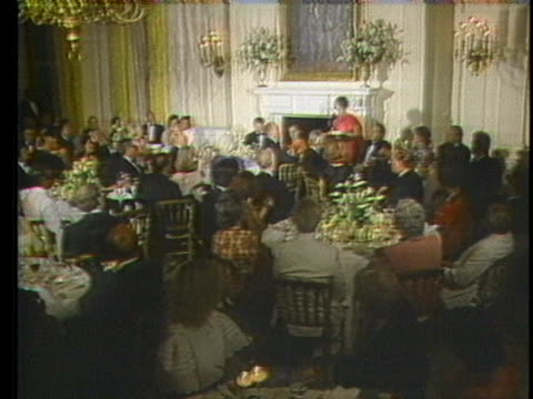 india's prime minister indira gandhi speaks at a banquet at the white house. - healthcare and medicine or illness or food and drink or fitness or exercise or wellbeing stock videos & royalty-free footage
