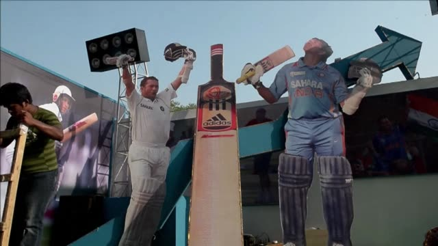 india's record-breaking batsman sachin tendulkar announced in october that he will retire after his 200th test next month clean : pictures and... - kolkata stock videos & royalty-free footage