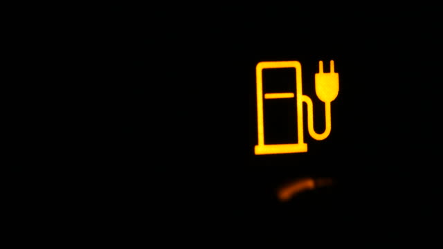 indicator light on the dashboard indicating that the batteries are recharging - dauphin stock videos & royalty-free footage