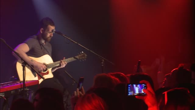 indie rock group bastille changed things up when they played an acoustic set with limited synths for a special performance at the jbtv studio /... - bastille stock-videos und b-roll-filmmaterial