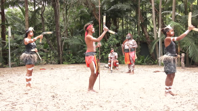 indigenous australians people dancing in queensland australia - indigenous culture stock videos & royalty-free footage