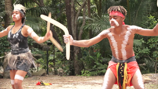 indigenous australians people dancing in queensland australia - boomerang stock videos & royalty-free footage