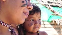 Indigenous Brazilian Sisters Portrait from Tupi Guarani Ethnicity