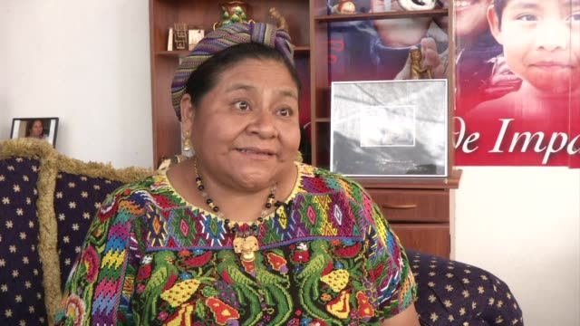 indigenous guatemalan leader and nobel peace prize laureate rigoberta menchu decried the commercial hype over the supposed ancient maya predictions... - latin american civilizations stock videos and b-roll footage