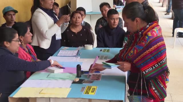 GTM: Indigenous people vote in Guatemala's presidential election