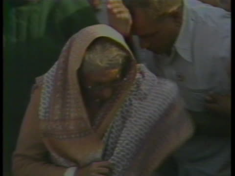 indira gandhi exits her limousine during the elections in new delhi, india. - (war or terrorism or election or government or illness or news event or speech or politics or politician or conflict or military or extreme weather or business or economy) and not usa stock videos & royalty-free footage