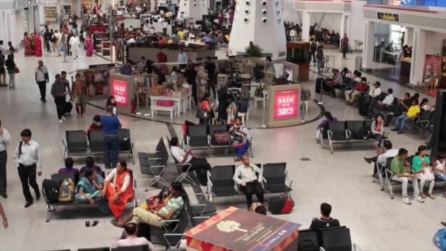 indira gandhi international airport india's and south asia's largest aviation hub with a current capacity of handling more than 62 million passengers... - capital region stock videos & royalty-free footage