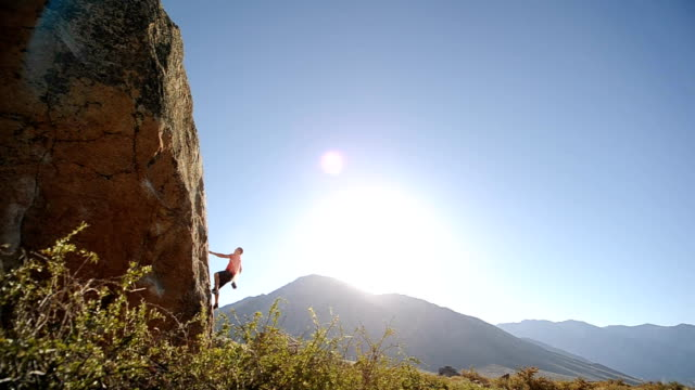 individual sport - rock climbing stock videos & royalty-free footage