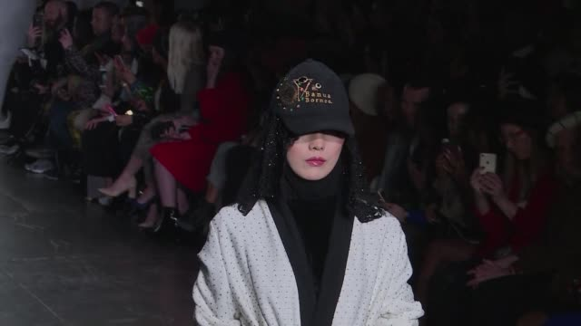 Indonesian designer Vivi Zubedi surprises New York Fashion Week audience with a bling and playful Muslim women's wear collection