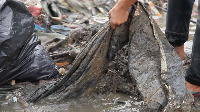 indonesian environmental activists collect plastic waste that has pooled in the deli river basin during world environment day on june 5, 2021 in... - collection stock videos & royalty-free footage