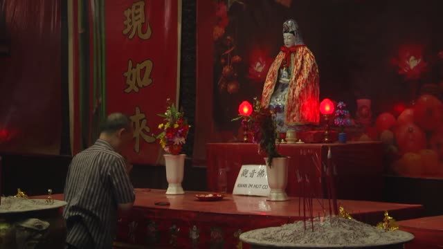 vídeos de stock, filmes e b-roll de indonesian ethnic chinese people prepare to celebrate the chinese new year in jakarta indonesia on january 25 2017 this year chinese new year the... - símbolo conceitual