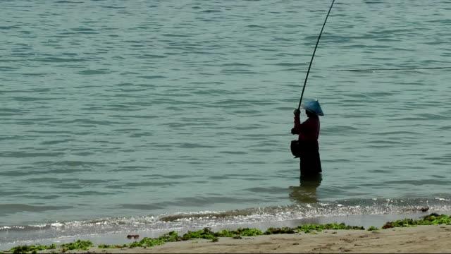 Indonesian fisherman silhouette