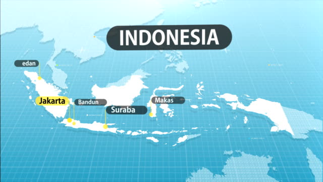 indonesian map - indonesia map stock videos & royalty-free footage