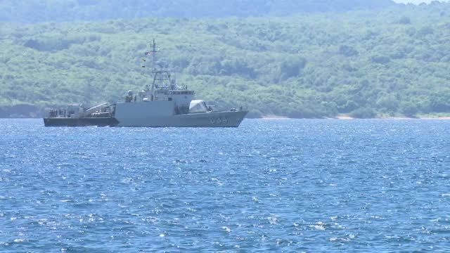 indonesian military conducts a search operation on thursday for the missing submarine, which lost contact in the waters off bali. - submarine stock videos & royalty-free footage