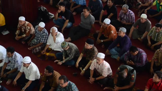 indonesian muslims perform their friday prayer at the first week the holy month of ramadan in medan north sumatra indonesia on julne 19 2015 holy... - friday stock videos & royalty-free footage