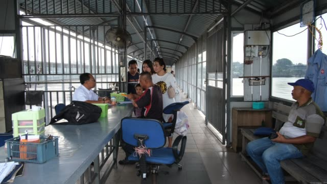indonesian people are seen at security check point outside the terminal, ahead of eid al-fitri celebrations on june 1, 2019 in port klang, malaysia.... - port said stock videos & royalty-free footage
