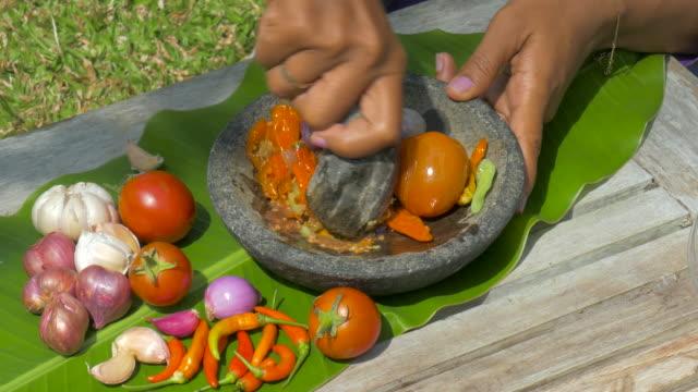 Indonesian Sambal Sauce,Ubud,Bali,Indonesia