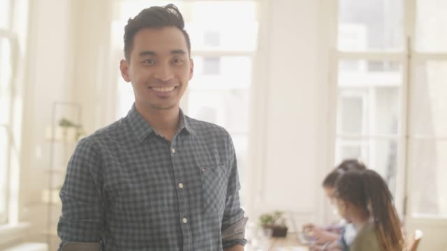 indonesian startup professional portrait - indonesian culture stock videos & royalty-free footage