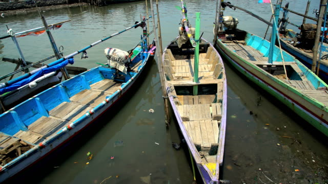indonesian traditional fishing boats java south east asia - probolinggo stock videos & royalty-free footage
