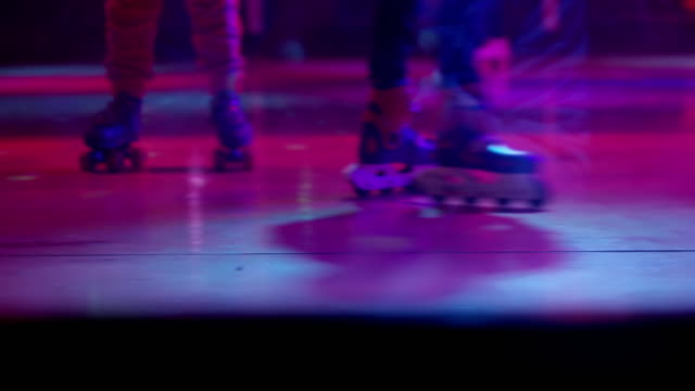 ls indoor roller skating - nightclub stock videos & royalty-free footage