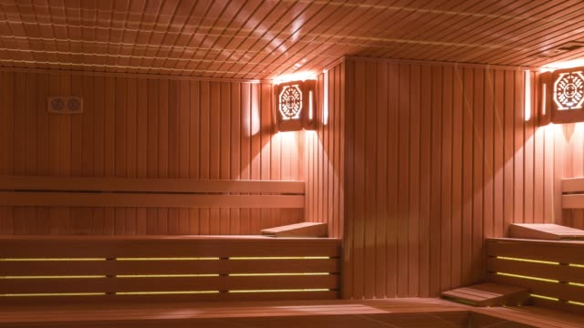 sauna interior - sauna stock videos and b-roll footage