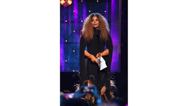 inductee janet jackson speaks onstage during the 2019 rock roll hall of fame induction ceremony show at barclays center on march 29 2019 in new york... - janet jackson stock videos & royalty-free footage