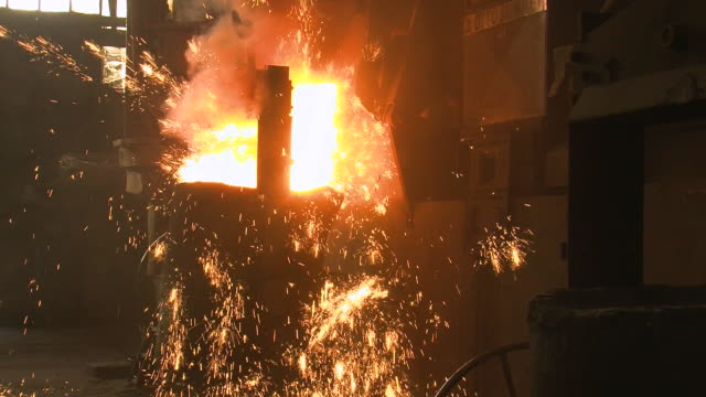 MS Inductive heating furnace at foundry / Juenkerath, Rhineland-Palatinate, Germany