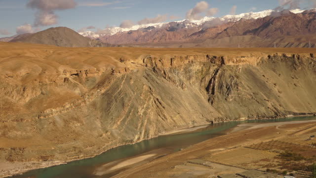 indus river, and view of himalayas ranges, india - other stock videos and b-roll footage