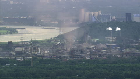 vidéos et rushes de aerial industrial area, duisburg, north rhine-westphalia, germany - ruhr