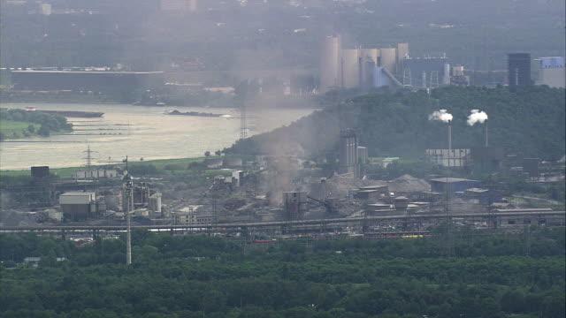 aerial industrial area, duisburg, north rhine-westphalia, germany - germany stock videos & royalty-free footage