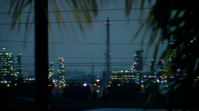 industrial area. power station - haifa stock videos and b-roll footage
