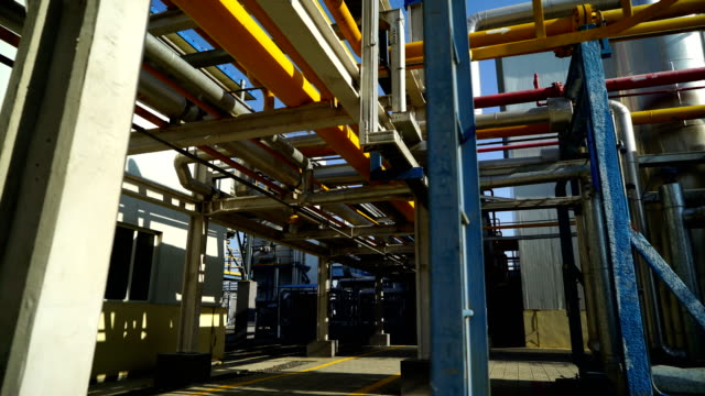 industrial building-lng oil gas equipment - pipe stock videos & royalty-free footage