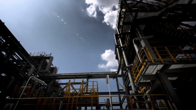 industrial building-lng oil gas equipment - oil industry stock videos & royalty-free footage