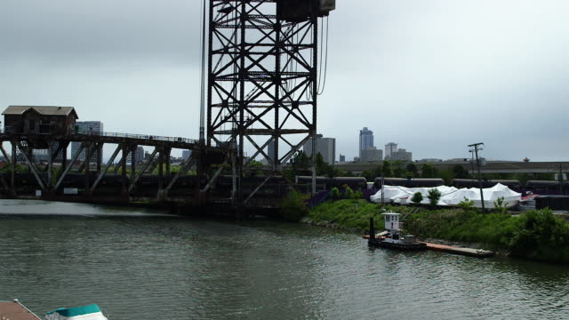 Industrial Chicago On An Overcast Day
