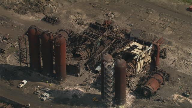 AERIAL, Industrial complex at Boulogne harbor, Pas de Calais, France