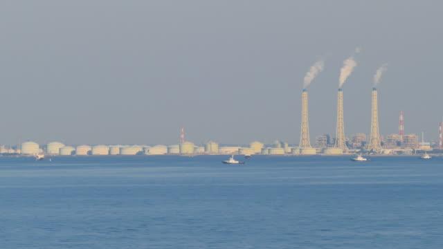 Industrial Complex at Tokyo Bay, Chiba, Japan