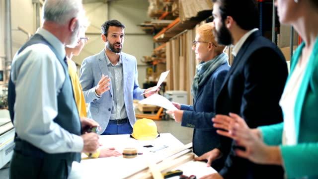 Industrial design team in a meeting.
