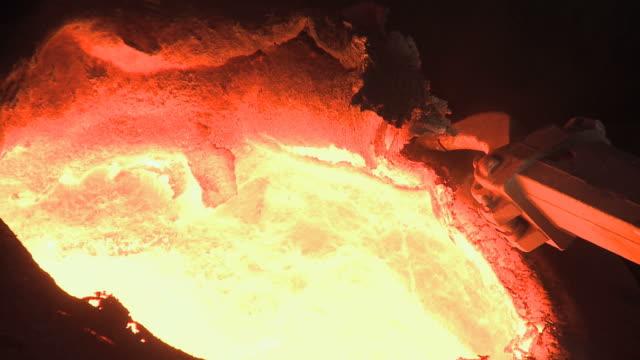 ms industrial equipment in in steel factory beside blast furnace at thyssen steel ag / duisberg, north rhine-westphalia, germany  - blast furnace stock videos & royalty-free footage