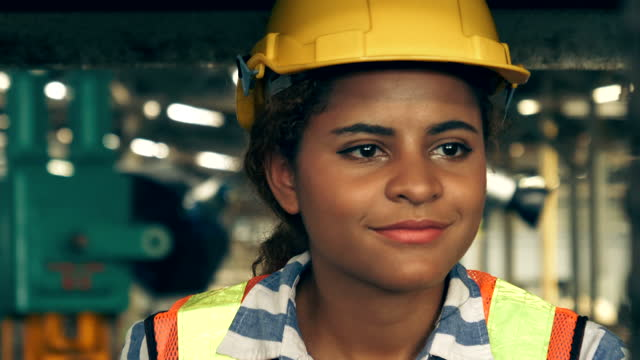 industrial female worker driving forklift - manufacturing machinery stock videos & royalty-free footage